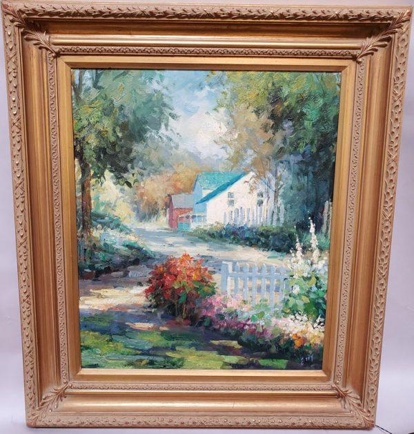 Anna's Mostly Mahogany Consignment - Farm House Painting