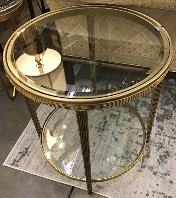 Anna's Mostly Mahogany Consignment - Pr Round End Tables