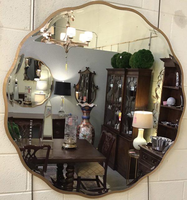 Anna's Mostly Mahogany Consignment - Ruffled Mirror
