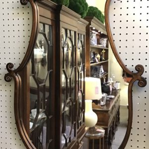 Anna's Mostly Mahogany Consignment - Scroll Mirror