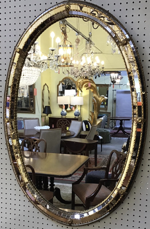 Anna's Mostly Mahogany Consignment - Oval Mirror