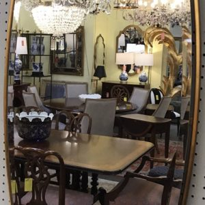 Anna's Mostly Mahogany Consignment - Gold Metal Modern Mirror