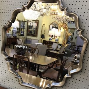 Anna's Mostly Mahogany Consignment - Silver Modern Mirror