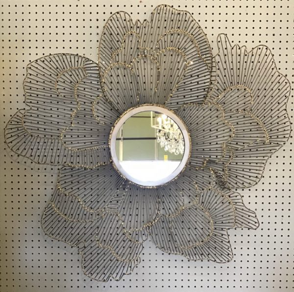 Anna's Mostly Mahogany Consignment - Floral Metal Mirror