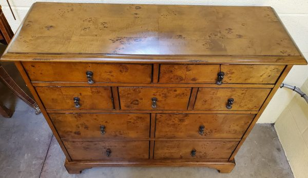 Anna's Mostly Mahogany Consignment - Burl Chest of Drawers