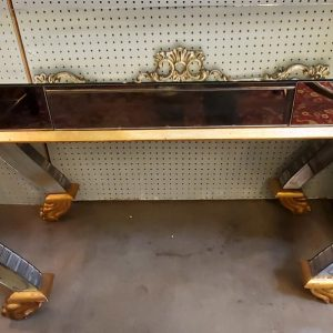 Anna's Mostly Mahogany Consignment - Vintage Mirrored Console Table