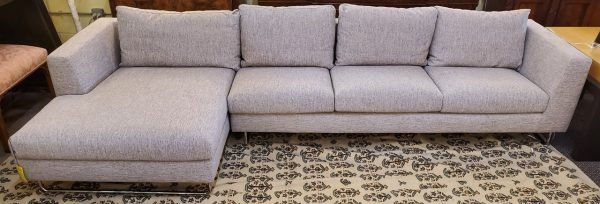 Anna's Mostly Mahogany Consignment - Gray Modern Sectional