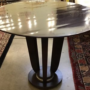 Anna's Mostly Mahogany Consignment - Pr Round Side Tables