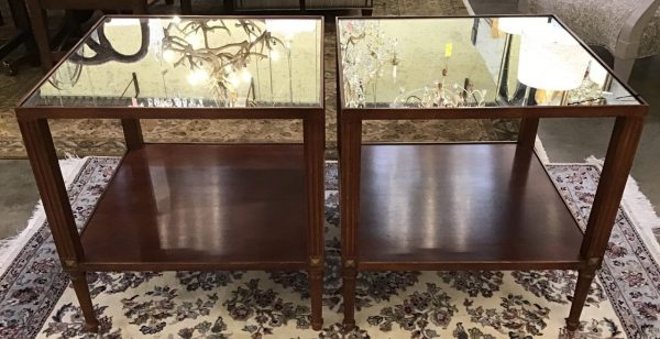 Anna's Mostly Mahogany Consignment - Pr Side Tables
