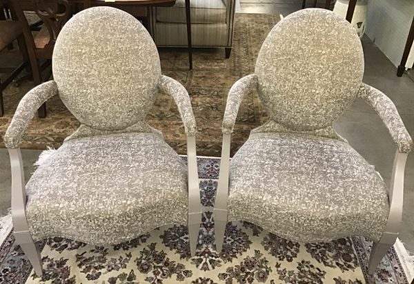 Anna's Mostly Mahogany Consignment - Pr Occasional Chairs
