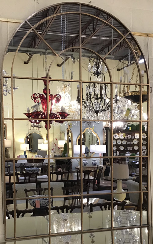 Anna's Mostly Mahogany Consignment - Palladian Window Style Mirror