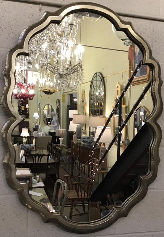 Anna's Mostly Mahogany Consignment - Ruffled Silver Mirror