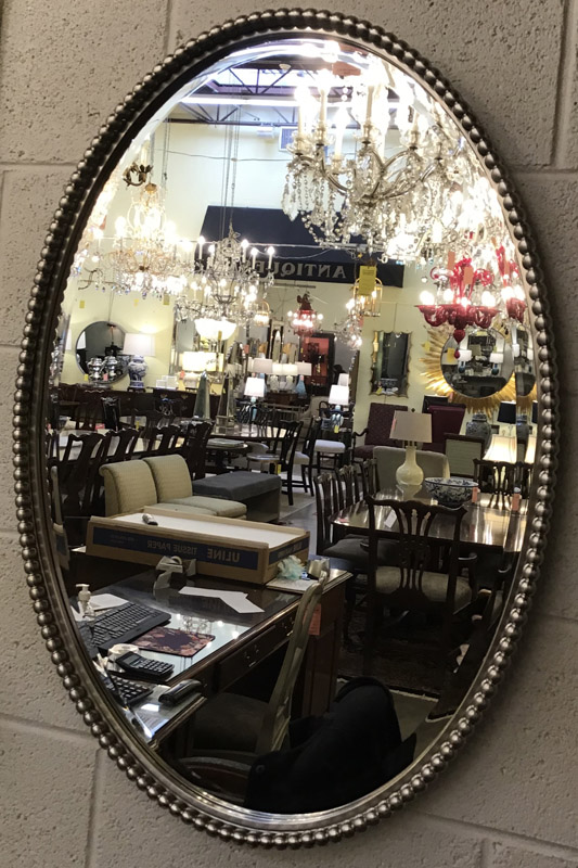 Anna's Mostly Mahogany Consignment - Silver Beaded Mirror
