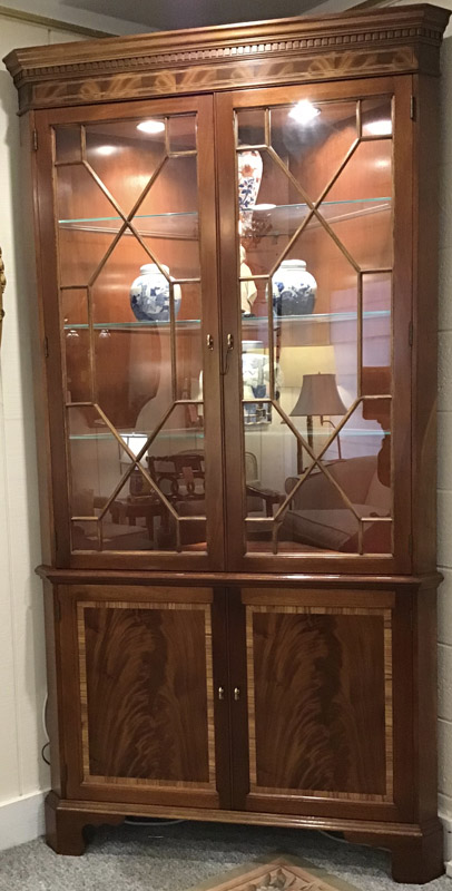 Anna's Mostly Mahogany Consignment - Mahogany Corner Cabinet