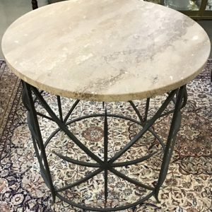 Anna's Mostly Mahogany Consignment - Round Marble Top Table