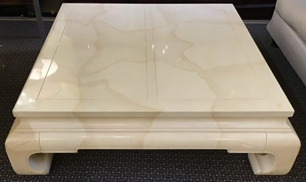 Anna's Mostly Mahogany Consignment - Square Lacquer Coffee Table