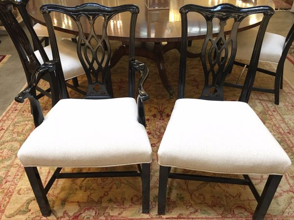 Anna's Mostly Mahogany Consignment - Set 8 English Lacquer Chairs