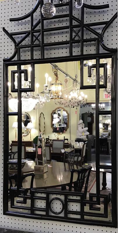 Anna's Mostly Mahogany Consignment - Black Pagoda Mirror