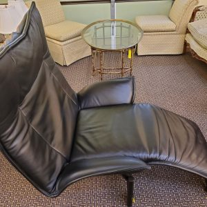 Anna's Mostly Mahogany Consignment - Black Leather Recliner