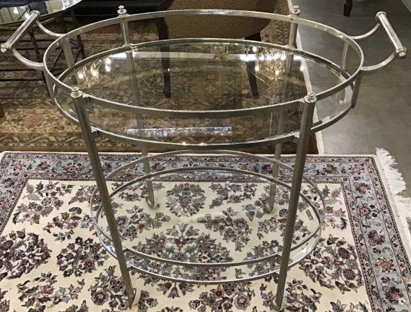 Anna's Mostly Mahogany Consignment - Oval Bar Cart