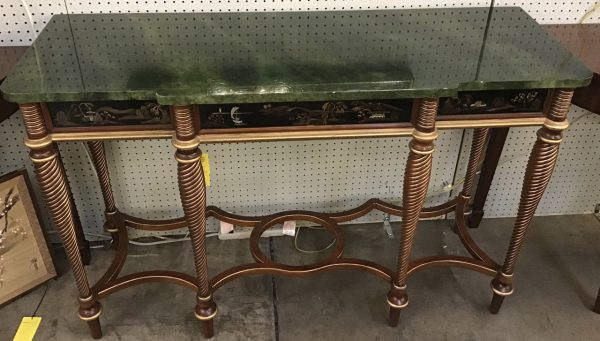 Anna's Mostly Mahogany Consignment - Chinoiserie Console Table