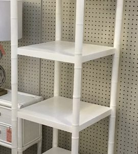 Anna's Mostly Mahogany Consignment - White Tower Shelf