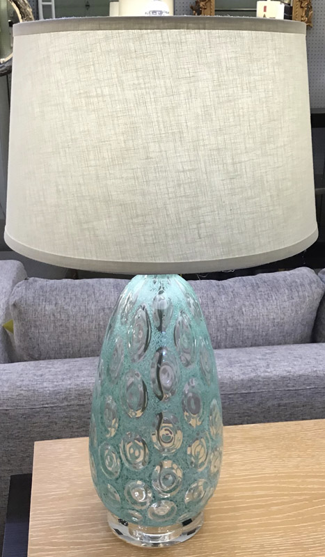 Anna's Mostly Mahogany Consignment - Pr Green Lamps
