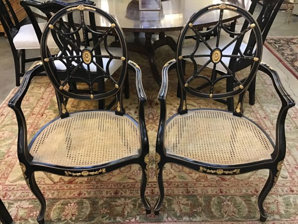Anna's Mostly Mahogany Consignment - Pr Spider Back Chairs