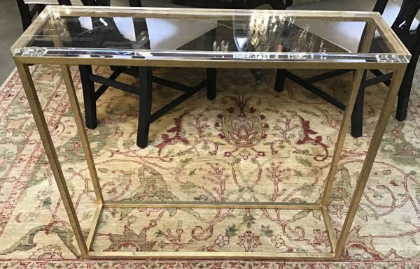 Anna's Mostly Mahogany Consignment - Lucite Metal Console