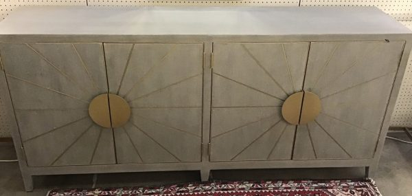 Anna's Mostly Mahogany Consignment - Gray Moderne Sideboard
